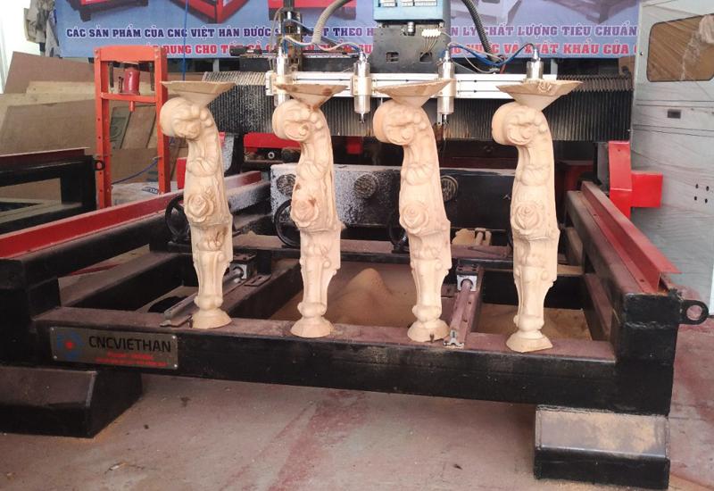 Công ty CP Nội thất Hoàng Gia Châu Âu | Dùng máy điêu khắc Tân Cổ Điển của CNC Việt Hàn
