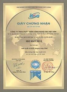 Tiêu chuẩn quốc tế ISO9001:2015