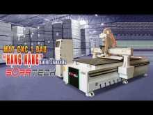"""Embedded thumbnail for Máy CNC 1 đầu """"Hạng Nặng"""" Bàn hút chân không Soratech - Khung máy chắc khỏe, đường cắt Siêu mịn"""