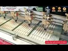 Embedded thumbnail for Máy đục gỗ vi tính 12 đầu tại nhà khách hàng của CNC Việt Hàn