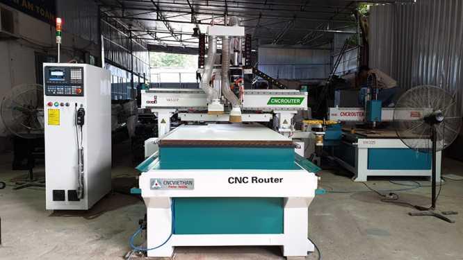 Máy cắt gỗ công nghiệp 12 dao kết hợp đầu khoan 9 mũi