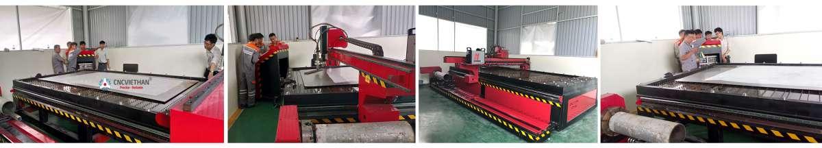 CNC Việt Hàn chuyển giao máy cắt ống, thép tấm plasma