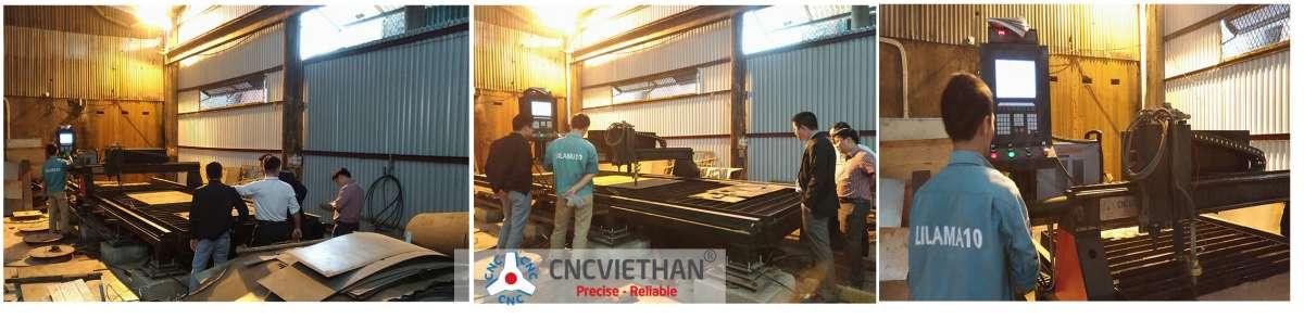 Hình ảnh chuyển giao máy cho khách tại công ty Nguyên Vinh