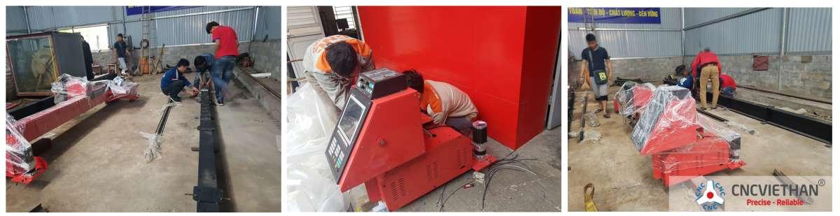 chuyển giao máy plasma tại công CTy CPĐT XD Thuận Thành